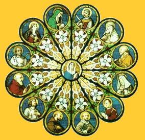 The Communion of Saints in Stained Glass
