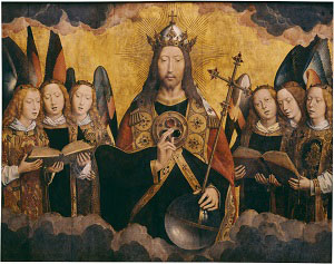 Christ with Singing Angels (Hans Memling)